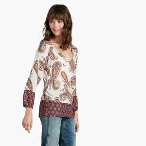Lucky Brand | Paisley Print Blouse, Size Large